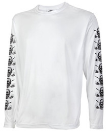 Tattoo Golf: Mens Performance Long Sleeve Shirt - Under Layer (White)