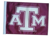 Texas A and M 11in x 15in Golf Cart or Car Flag