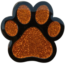 ReadyGolf - Paw Print Orange Ball Marker & Hat Clip