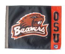 Oregon State Beavers 11in x 15in Golf Cart or Car Flag