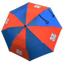 "U.S. Coast Guard Military 62"" Double Canopy Golf Umbrella by Hotz Golf"