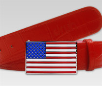 USA Flag Buckle by Druh Belts