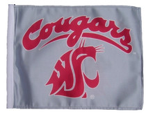 Washington Cougars 11in x 15in Golf Cart or Car Flag