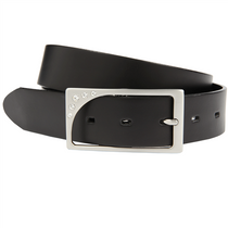 Canterbury Golf Women's Cut-to-Fit Black Leather & Rhinestone Buckle Belt