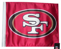 NFL San Francisco 49ers 11in x 15in Golf Cart or Car Flag