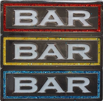 ReadyGolf - Slot Machine BAR BAR BAR with Glitter Ball Marker & Hat Clip