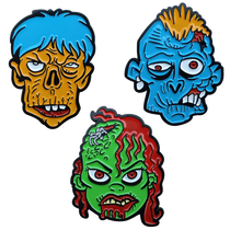 ReadyGolf - Zombie Ball Markers & Hat Clips - Set of 3
