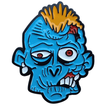ReadyGolf - Zombie Ball Marker & Hat Clip - Blue
