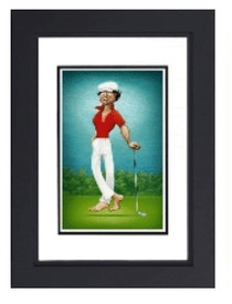 "David O'Keefe: Tribute to Ty Webb 19""x12"" Framed Print"