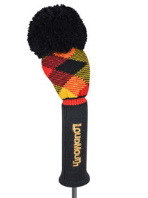 Loudmouth Cheezburger Driver Headcover - Red/Yellow/Black Diamond