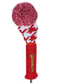 Loudmouth Red Tooth Driver Headcover - Scarlet/White Houndstooth