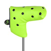 Just 4 Golf Headcovers: Putter Cover Blade - Dots in Lime and Black