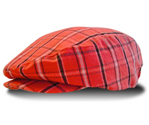 Golf Knickers: Red Limited Edition Men's Plaid Golf Knickers & Cap