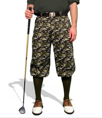 Golf Knickers: Men's Camo Series Woodland Camo Golf Knickers & Cap