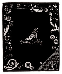 Sassy Caddy Black Golf Towel