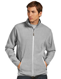 Antigua Men's Essentials Outerwear - Ice Jacket 100785 (Silver) Large - SALE