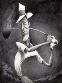 "David O'Keefe: Master of Showmanship - Chi Chi Rodriguez 16""x20"""