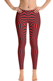 ReadyGOLF Womens All-Over Leggings - Widow Maker