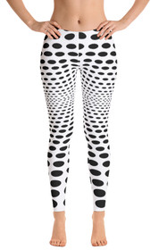 ReadyGOLF Womens All-Over Leggings - Sea of Holes