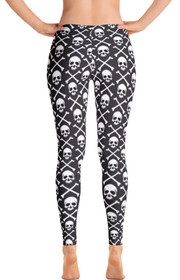 ReadyGOLF Womens All-Over Leggings - Pirate Flag
