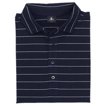 Fairway & Greene Men's Polo - Berra Stripe Natural Tech Jersey