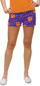 Loudmouth Golf Womens Mini Shorts - Clemson Paw Power™