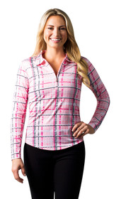 SanSoleil: Ladies UPF 50 SolCool Zip Polo 900462