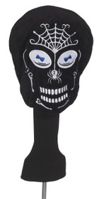Black Skull Golf Headcover by Creative Covers