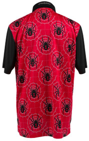 ReadyGOLF Mens Golf Polo Shirt - Black Widow Red
