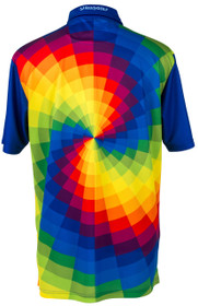 ReadyGOLF Mens Golf Polo Shirt - Tie Dye