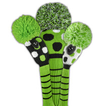 Just 4 Golf - Large Multi Dot Headcover Set - Lime, Black, & White