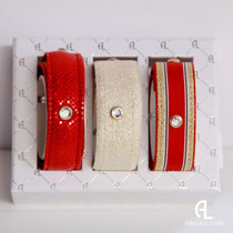 Abigale Lynn Trio Gift Set - Red Nautical