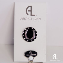 Abigale Lynn Ball Marker & Hat Clip - Pink Horseshoe