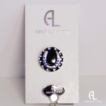 Abigale Lynn Ball Marker & Hat Clip - Blue Horseshoe