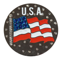 Abigale Lynn Ball Marker & Hat Clip - USA Flag