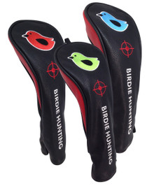 ReadyGolf (Set of 3) Embroidered Hybrid Headcovers - Birdie Hunting