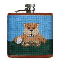 Gopher Golf Needlepoint Flask by Smathers & Branson