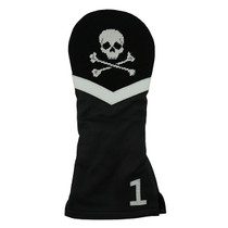 Jolly Roger Needlepoint Driver Headcover