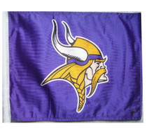 NFL Minnesota Vikings 11in x 15in with Golf Cart Flag Bracket  - SALE