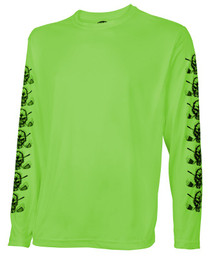 Tattoo Golf: Mens Performance Long Sleeve Shirt - Under Layer (Lime)