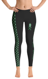 ReadyGOLF Womens All-Over Leggings - Irish To The Bone