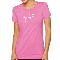 It Says Golf: Women's Premium T-Shirt - Pink