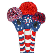Just 4 Golf - Stars & Stripes Forever Headcover Set - Red, White & Blue