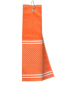 Just 4 Golf Headcovers: Orange Towel with Ribbon
