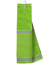 Just 4 Golf Headcovers: Lime Towel with Ribbon