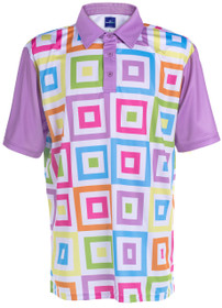 ReadyGOLF Mens Golf Polo Shirt - Hip To Be Square
