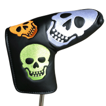 ReadyGolf Putter Cover - Rainbow Skulls