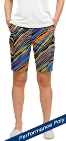 Loudmouth Golf Womens Bermuda Shorts: Jungle Bogey StretchTech