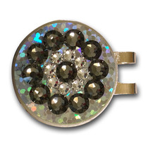 Blingo Ball Markers: Black Diamond on Silver Glitter