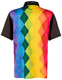 ReadyGOLF Mens Golf Polo Shirt - Rainbow Argyle